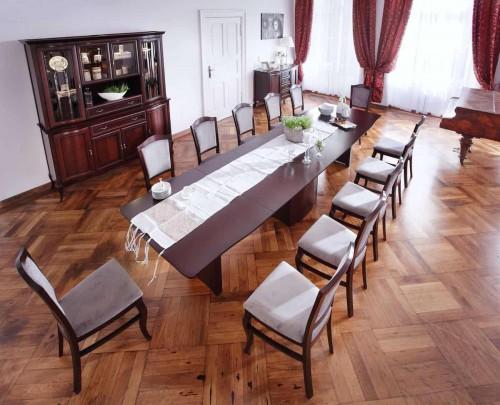 jadalnia - stoł nogi kolumny- 12 osob z gory